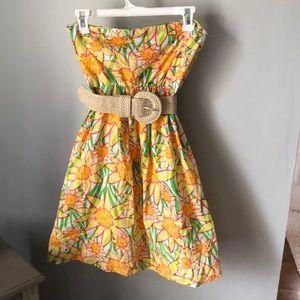 Lily Pulitzer Wyatt Daffodil Strapless Dress